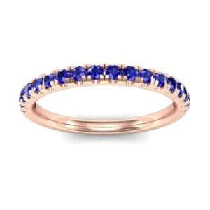 Pave Blue Sapphire Ring (0.28 Carat)