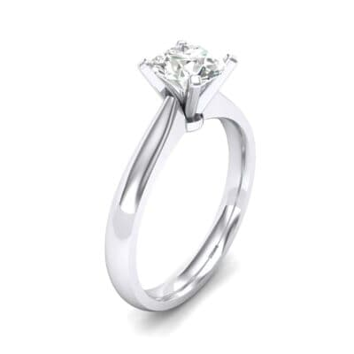 Tapered Cathedral Solitaire Diamond Engagement Ring (0.66 CTW)