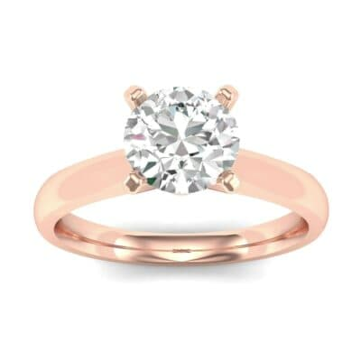 Tapered Cathedral Solitaire Diamond Engagement Ring (0.66 CTW) Top Dynamic View