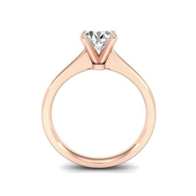 Tapered Cathedral Solitaire Diamond Engagement Ring (0.66 CTW) Side View