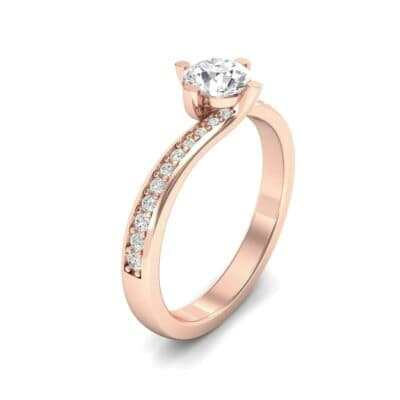Compass Point Diamond Bypass Engagement Ring (0.7 CTW) Perspective View