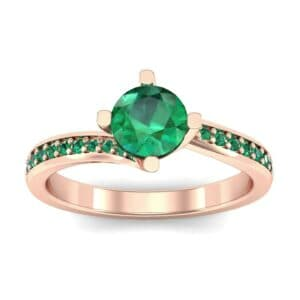 Compass Point Emerald Bypass Engagement Ring (0.7 Carat)