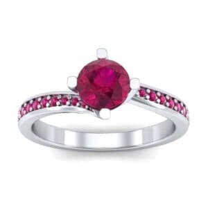 Compass Point Ruby Bypass Engagement Ring (0.7 Carat)