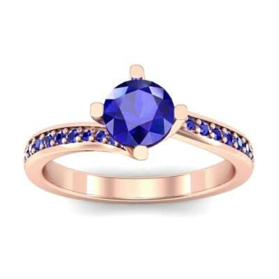 Compass Point Blue Sapphire Bypass Engagement Ring (0.7 Carat)