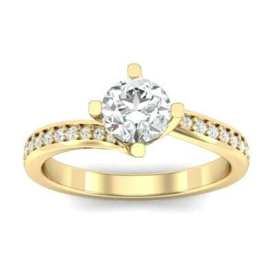 Compass Point Diamond Bypass Engagement Ring (0.7 Carat)
