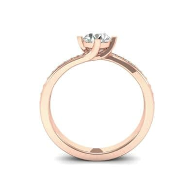 Compass Point Diamond Bypass Engagement Ring (0.7 CTW) Side View