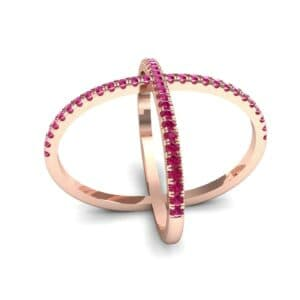Pave Ruby X Ring (1.06 Carat)