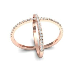 Pave Diamond X Ring (0.63 Carat)