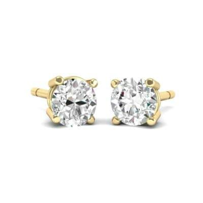 Classic Round Brilliant Diamond Stud Earrings (0.5 Carat)