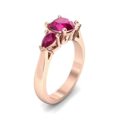 Pear Three-Stone Ruby Engagement Ring (1.55 Carat)