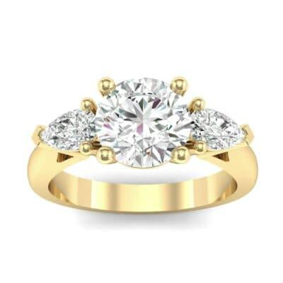 Pear Three-Stone Diamond Engagement Ring (1.55 Carat)