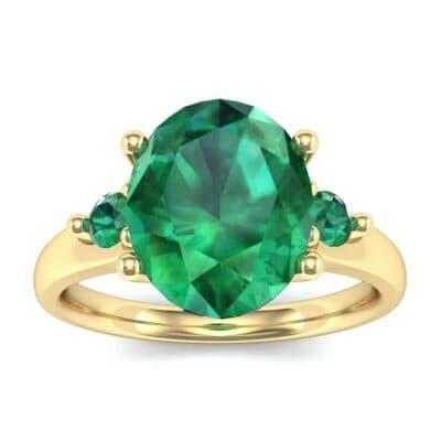 Shoulder Accent Oval Emerald Ring (2.67 Carat)