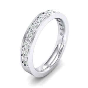 Flat-Sided Pave Diamond Ring (0.5 Carat)