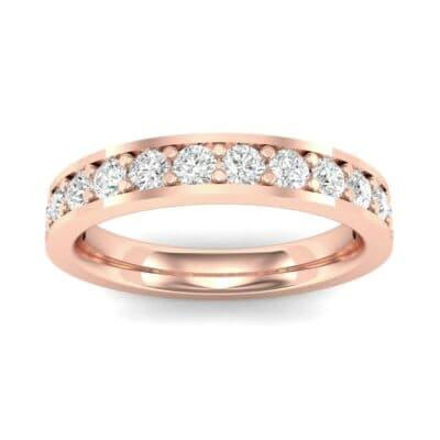 Flat-Sided Pave Diamond Ring (0.5 Carat)