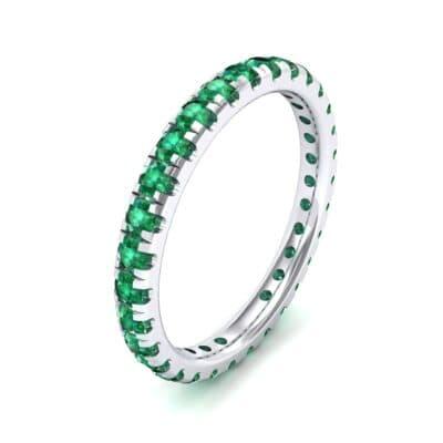 Pave Emerald Eternity Ring (0.76 Carat)
