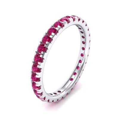Pave Ruby Eternity Ring (0.76 Carat)