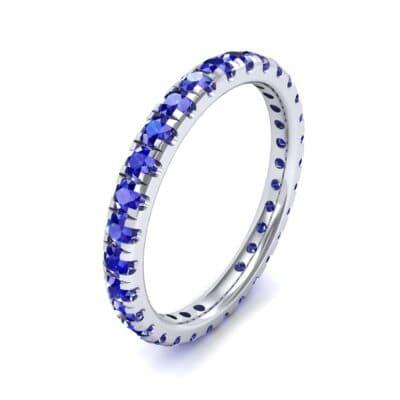 Pave Blue Sapphire Eternity Ring (0.76 Carat)