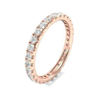 Pave Diamond Eternity Ring (0.76 Carat)