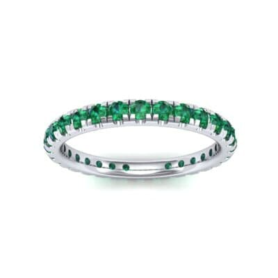 Pave Emerald Eternity Ring (0.76 Carat)