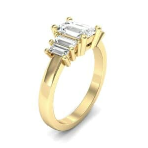 Stepped Five-Stone Diamond Engagement Ring (1.84 Carat)