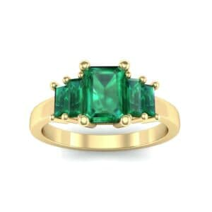 Stepped Five-Stone Emerald Engagement Ring (1.84 Carat)