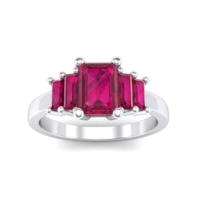 Stepped Five-Stone Ruby Engagement Ring (1.84 Carat)
