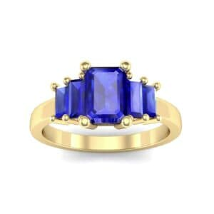 Stepped Five-Stone Blue Sapphire Engagement Ring (1.84 Carat)