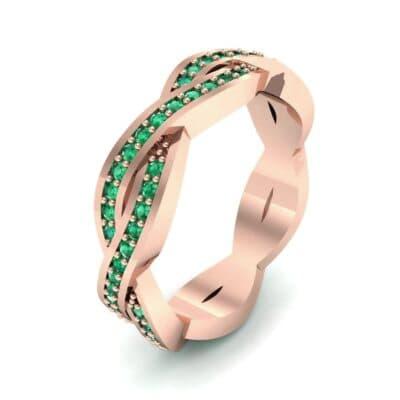 Twist Pave Emerald Eternity Ring (0.54 Carat)