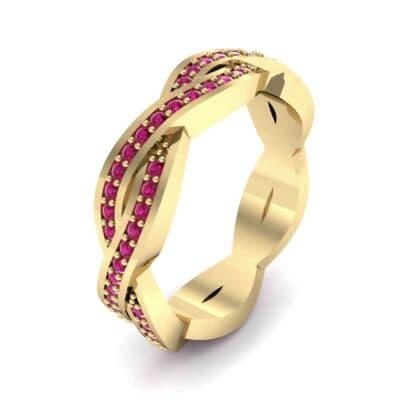 Twist Pave Ruby Eternity Ring (0.54 Carat)