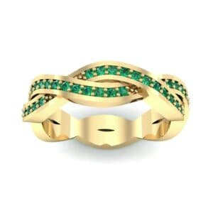 Twist Pave Emerald Eternity Ring (0.54 Carat)