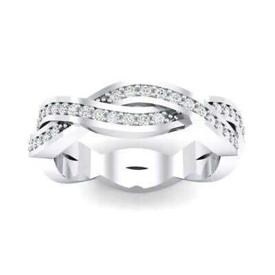 Twist Pave Diamond Eternity Ring (0.4 Carat)