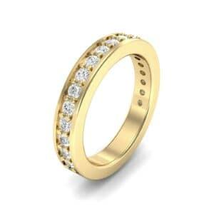 Flat-Sided Pave Diamond Ring (0.57 Carat)