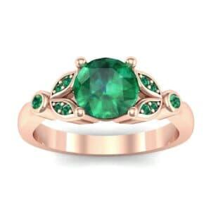 Gardenia Emerald Engagement Ring (0.54 Carat)
