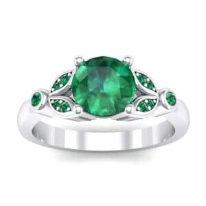 Gardenia Emerald Engagement Ring (0.54 Carat)