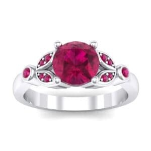 Gardenia Ruby Engagement Ring (0.54 Carat)