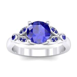Gardenia Blue Sapphire Engagement Ring (0.54 Carat)