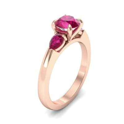 Claw Prong Pear Three-Stone Ruby Engagement Ring (1.16 Carat)