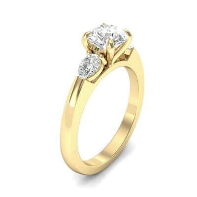 Claw Prong Pear Three-Stone Diamond Engagement Ring (1.16 Carat)