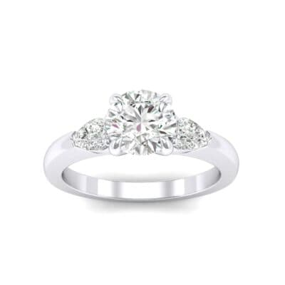 Claw Prong Pear Three-Stone Diamond Engagement Ring (1.16 Carat)