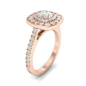 Gala Double Halo Cushion-Cut Diamond Engagement Ring (0.92 Carat)