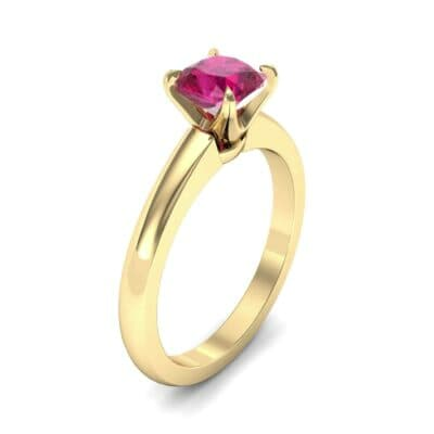 Claw Prong Cushion-Cut Solitaire Ruby Engagement Ring (0.66 CTW)