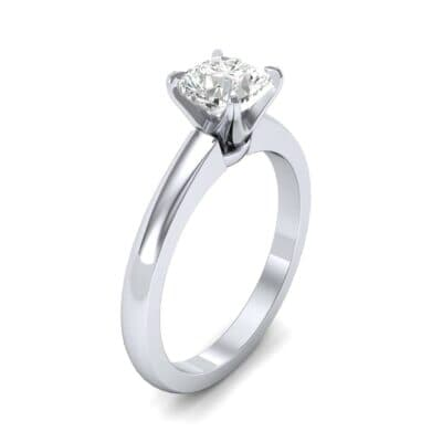 Claw Prong Cushion-Cut Solitaire Diamond Engagement Ring (0.66 CTW)