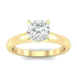 Claw Prong Cushion-Cut Solitaire Diamond Engagement Ring (0.66 Carat)
