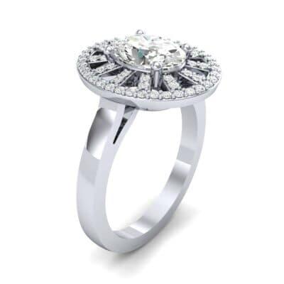 Oval Pierced Halo Diamond Ring (1.51 CTW)