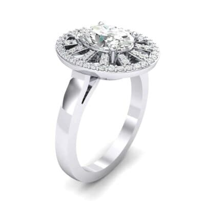 Oval Pierced Halo Diamond Ring (1.51 CTW)