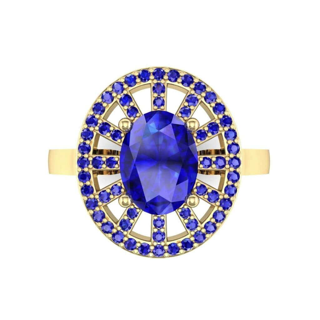 4492 Render 1 01 Camera4 Stone 3 Blue Sapphire 0 Floor 0 Metal 3 Yellow Gold 0 Emitter Aqua Light 0