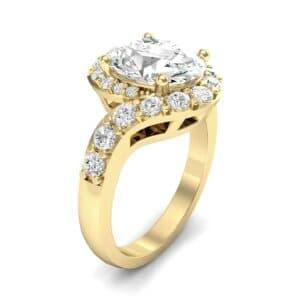 Oval Halo Diamond Bypass Ring (5.17 Carat)