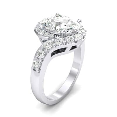 Oval Halo Diamond Bypass Ring (5.17 Carat)
