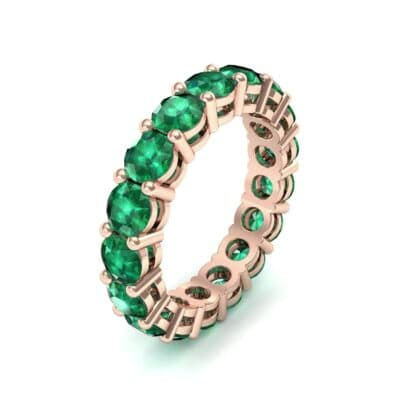 Luxe Shared Prong Emerald Eternity Ring (2.72 Carat)