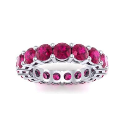 Luxe Shared Prong Ruby Eternity Ring (2.72 Carat)
